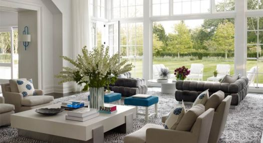 Via ELLE DECOR: Haynes Roberts Bridgehampton Home