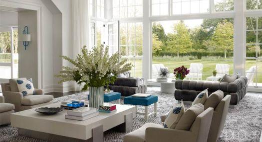 Via ELLE DECOR: Haynes Roberts Bridgehampton Home